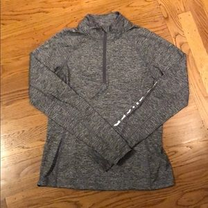 Forever 21 Gray Athletic 1/4 Zip